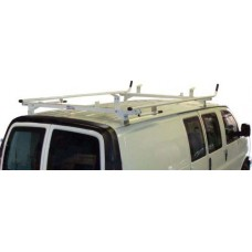 Aluminum Ladder Rack Full Size Ford Econoline 1994 - 2014 Double Lock Down